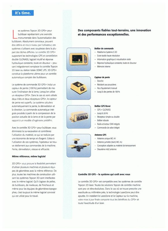Contrôle GPS+ pour bulldozer