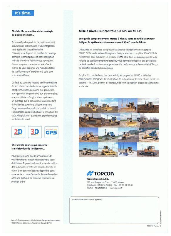 Topcon contrôle laser pour bulldozer
