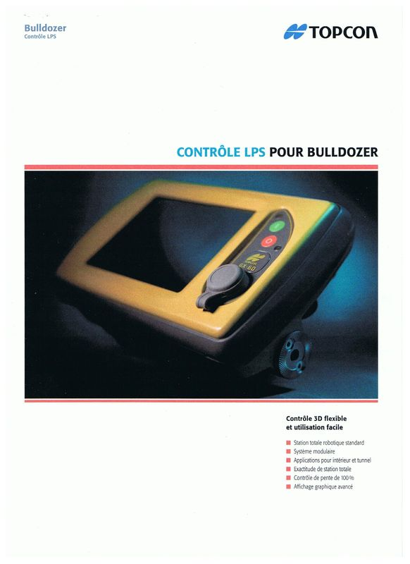 Topcon contrôle lps pour bulldozer