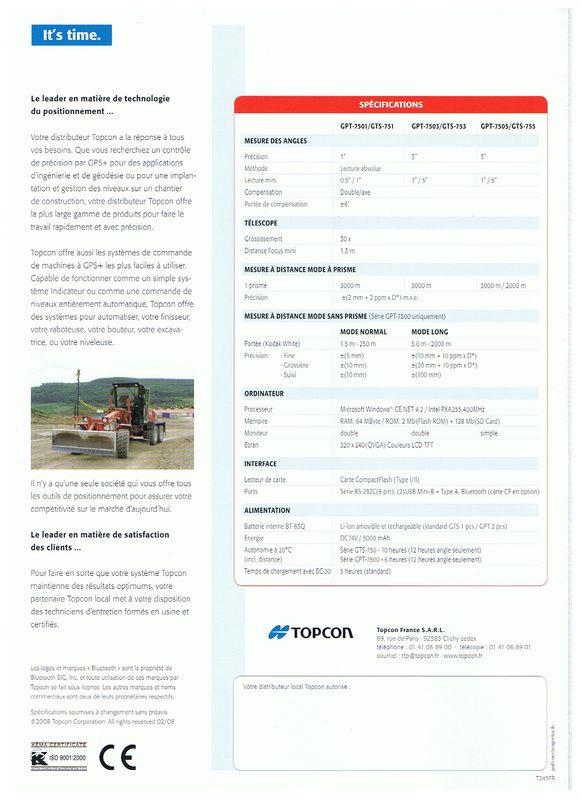 Topcon GPT-7500 & GTS-750
