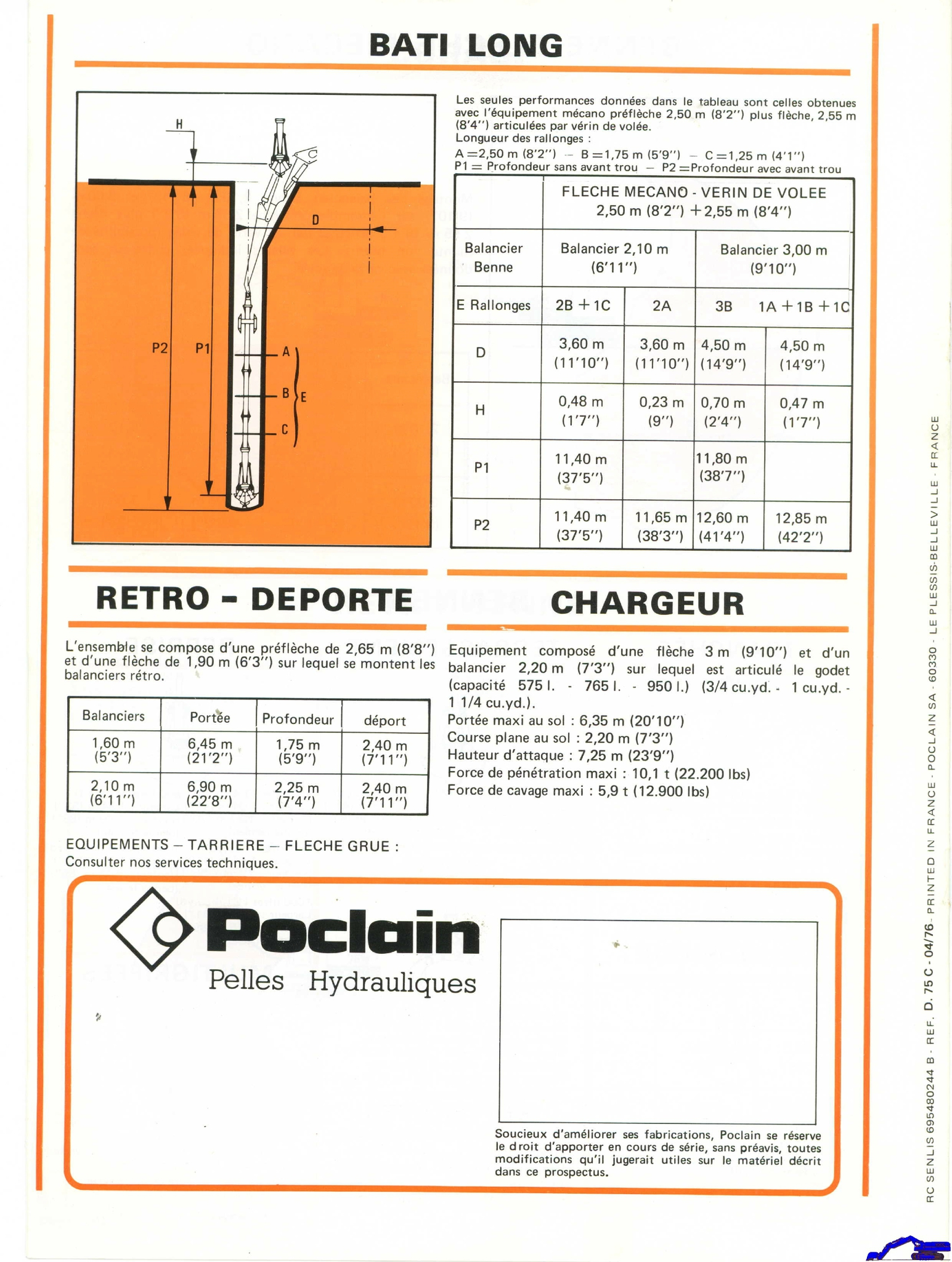 Technique Poclain 75 C