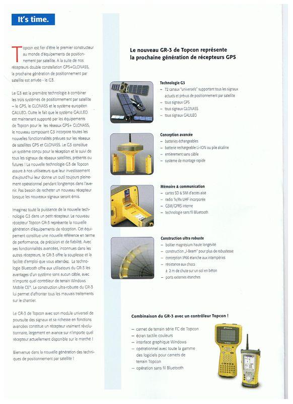 Topcon GR-3 récepteur GNSS