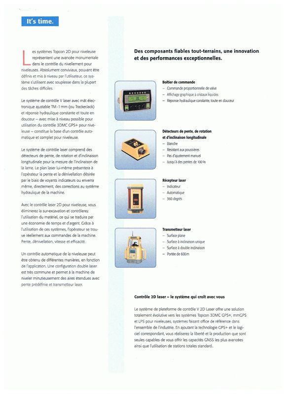 Topcon contrôle laser pour niveleuses