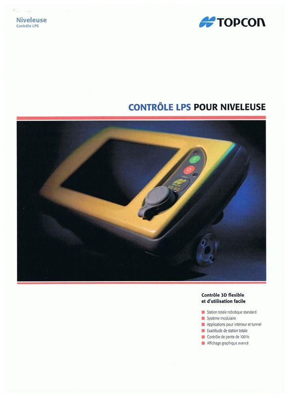 Topcon contrôle LPS pour niveleuses
