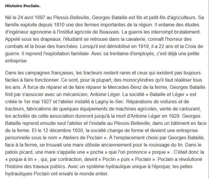 Historique Poclain