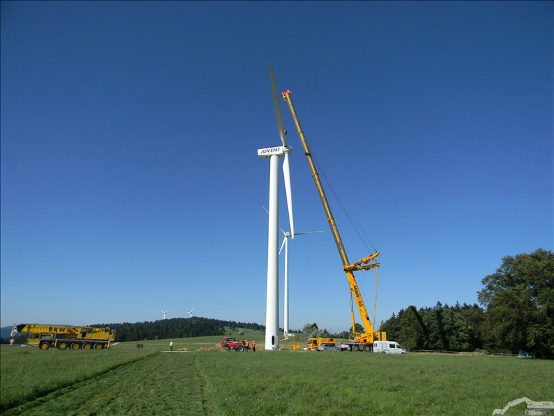 Chantier repowering éoliennes