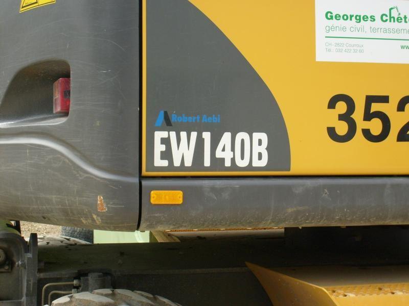 Marquage des pelles sur pneus Volvo EW.